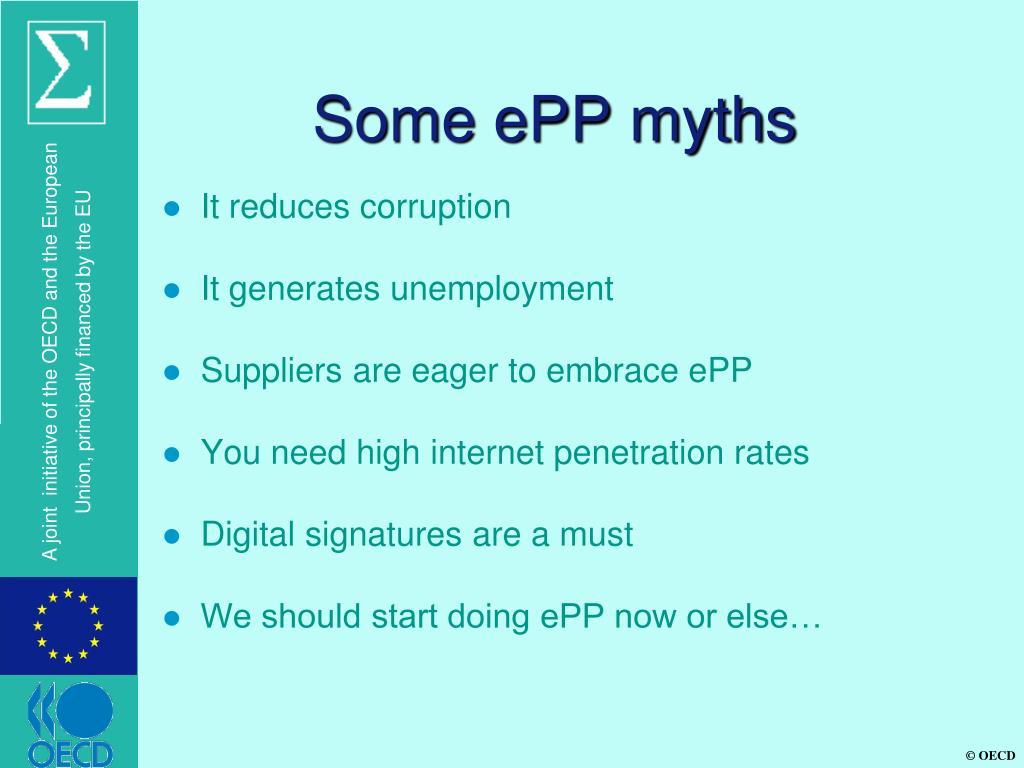 Some ePP myths