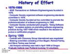 history of effort