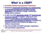what is a csdp