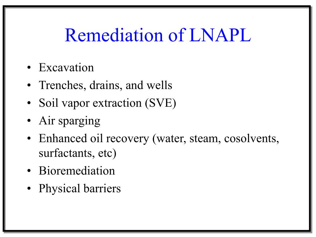 Remediation of LNAPL