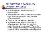 sei software capability evaluation sce