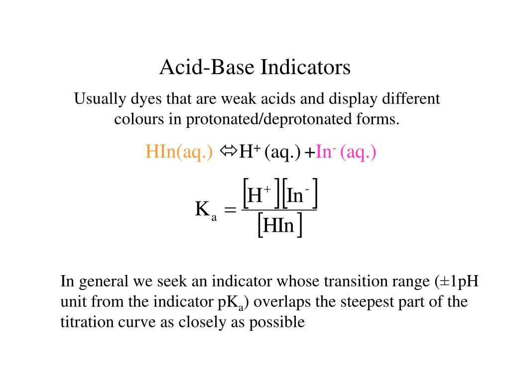 acids bases and natural indicators Investigation of a simple and cheap source of a natural indicator for acid-base titration: effects of system conditions on natural indicators daniel a abugri 1.