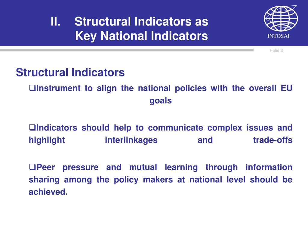 Structural Indicators as