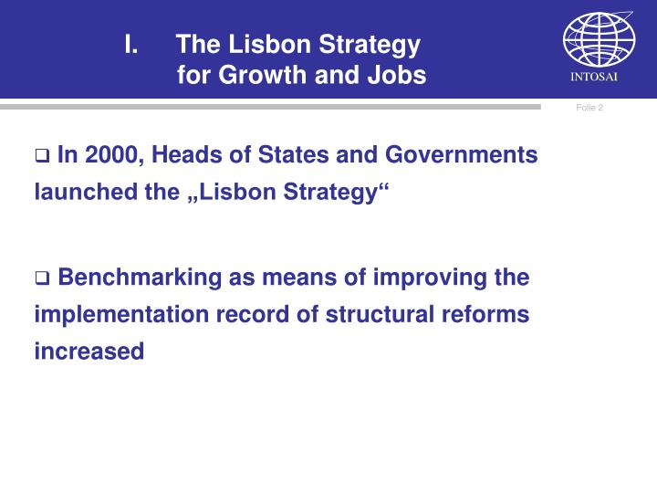 The lisbon strategy for growth and jobs