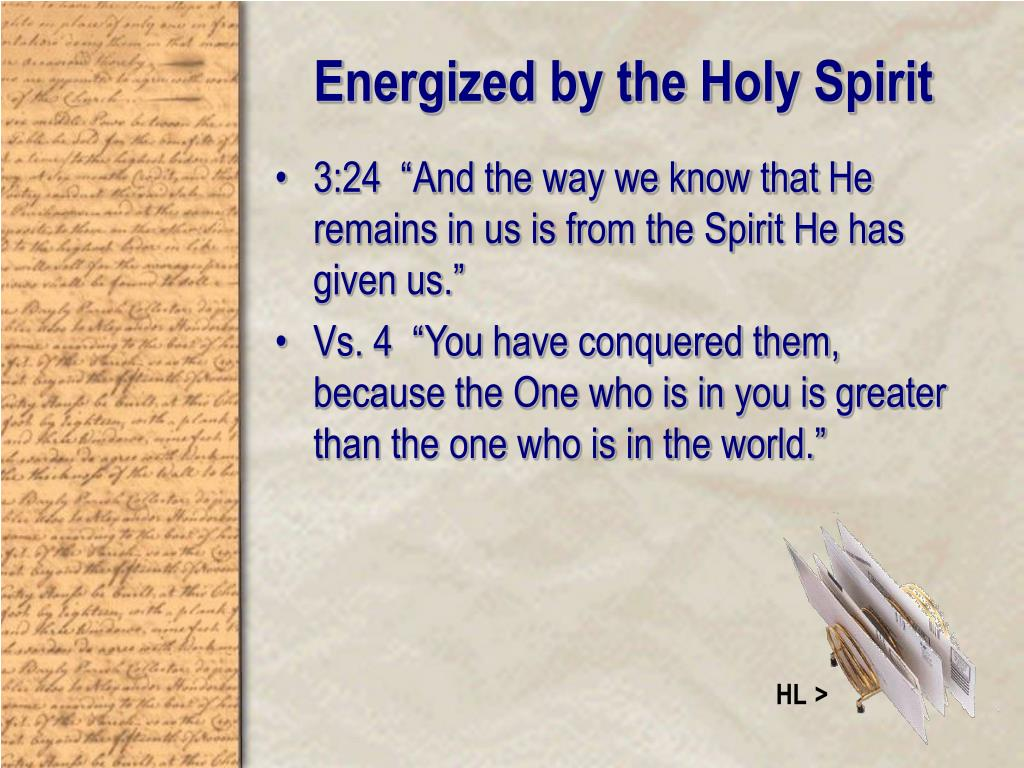 Energized by the Holy Spirit