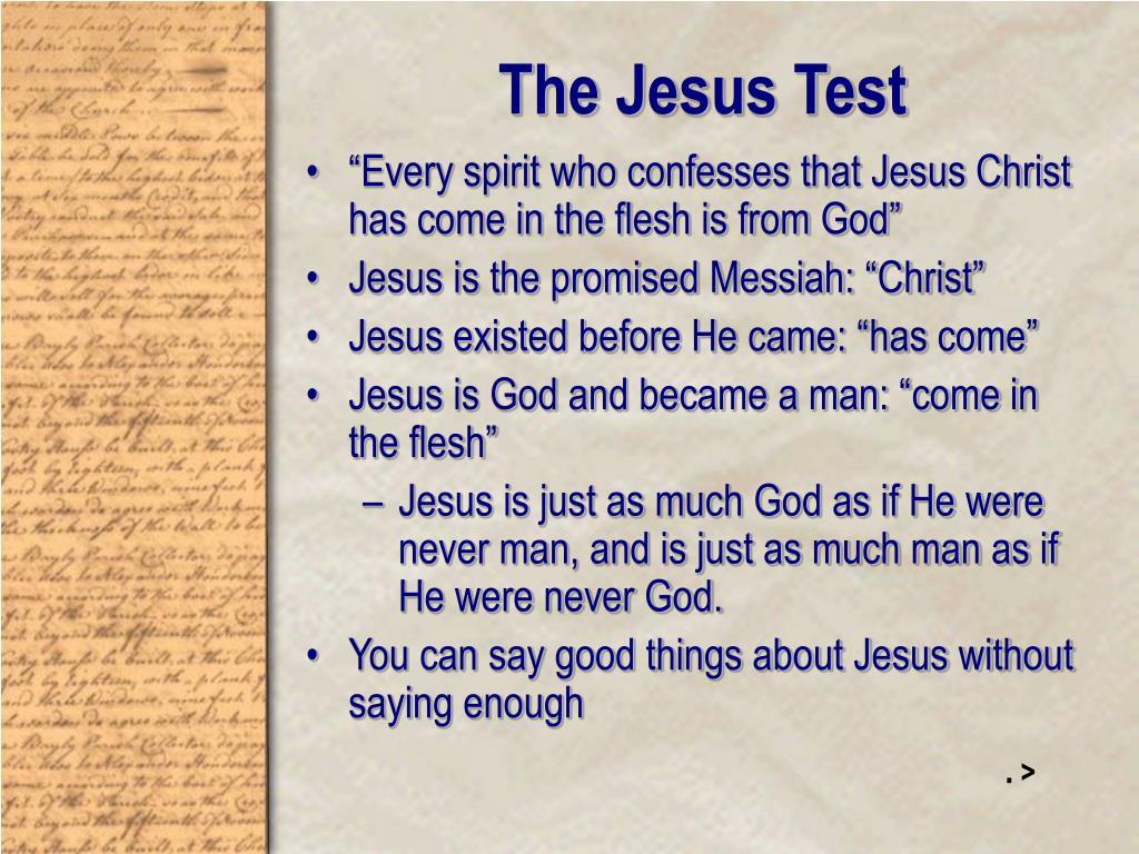 The Jesus Test