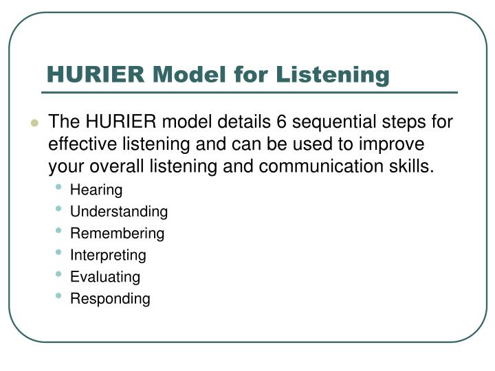 hurier model of listening