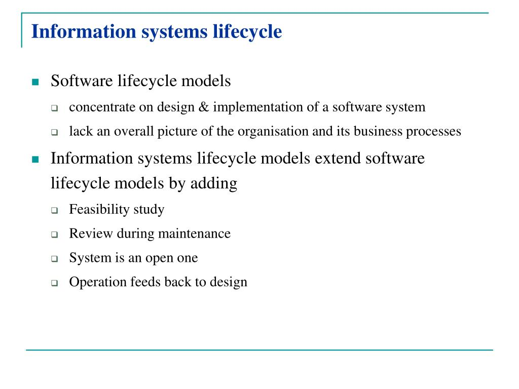 Information systems lifecycle