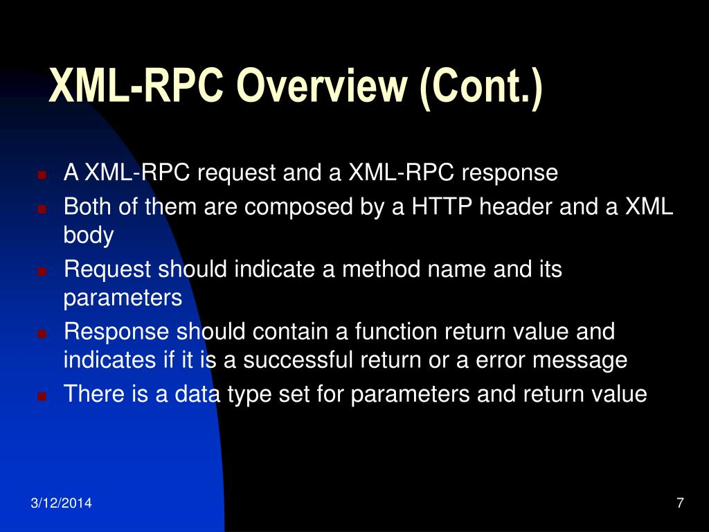 XML-RPC Overview (Cont.)