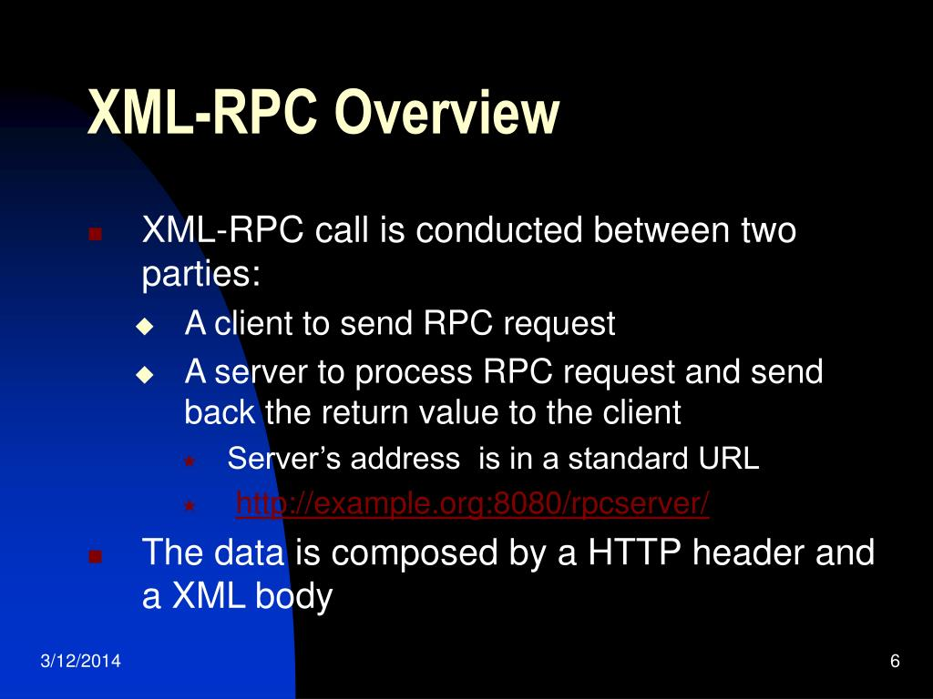 XML-RPC Overview
