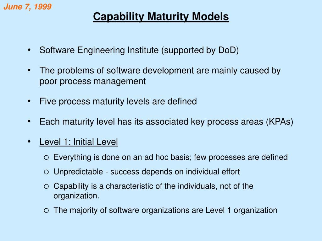 capability maturity models l.