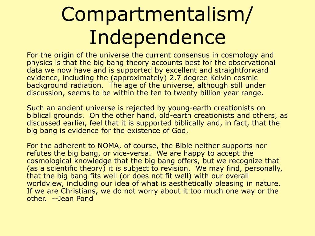 Compartmentalism/