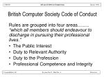 british computer society code of conduct