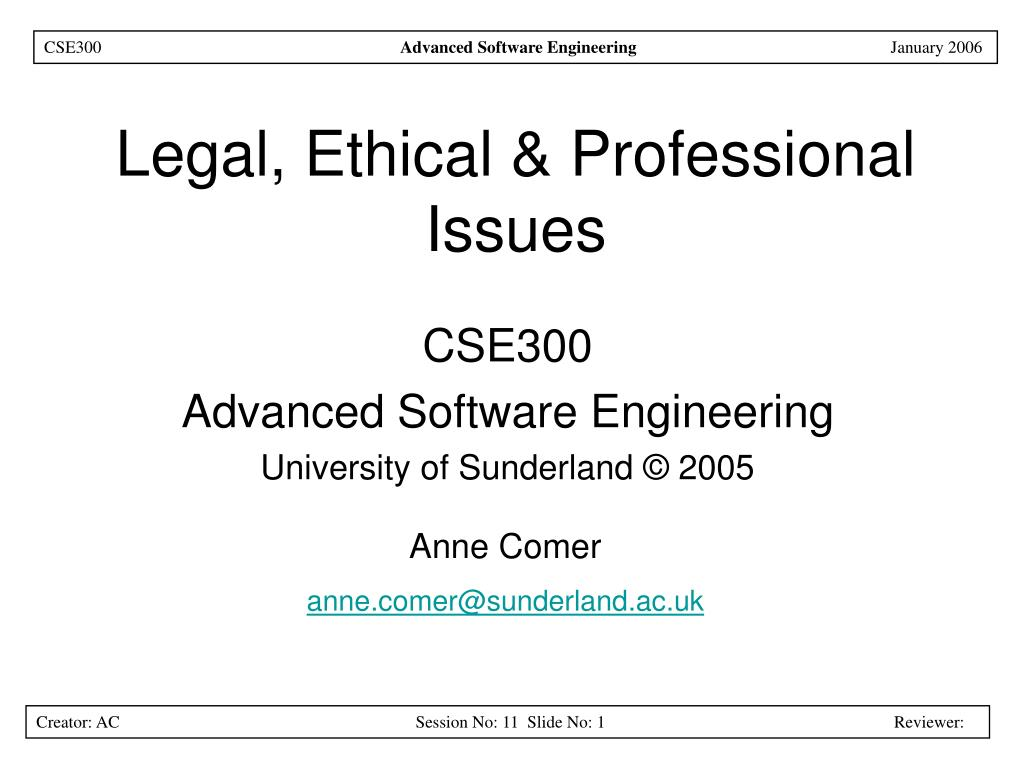legal ethical professional issues l.