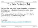 the data protection act