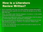 how is a literature review written6