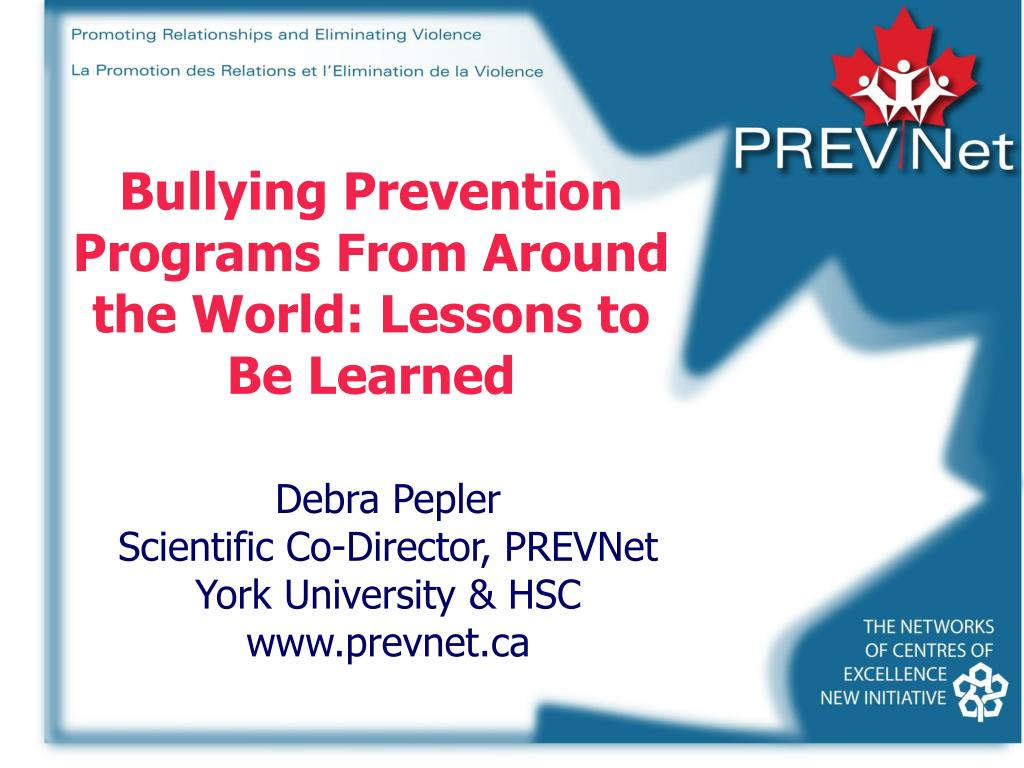Bullying Prevention Programs From Around the World: Lessons to Be Learned