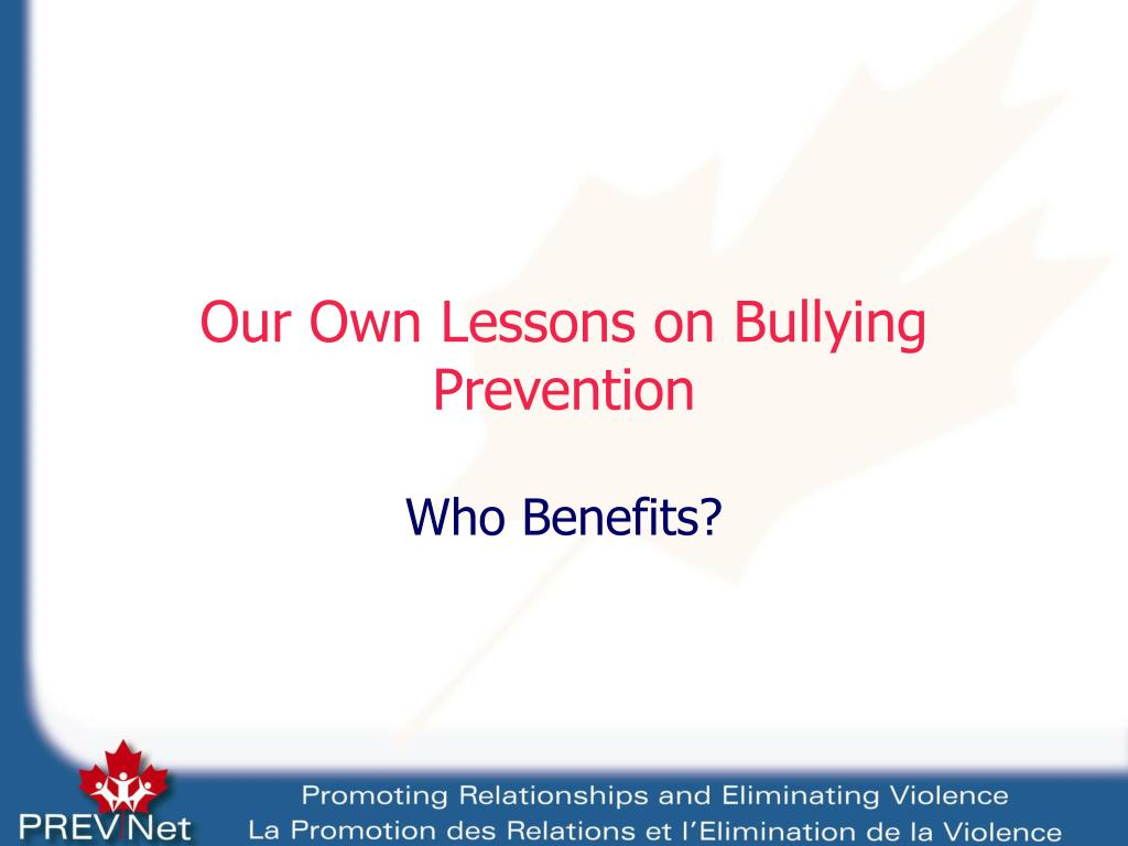 Our Own Lessons on Bullying Prevention