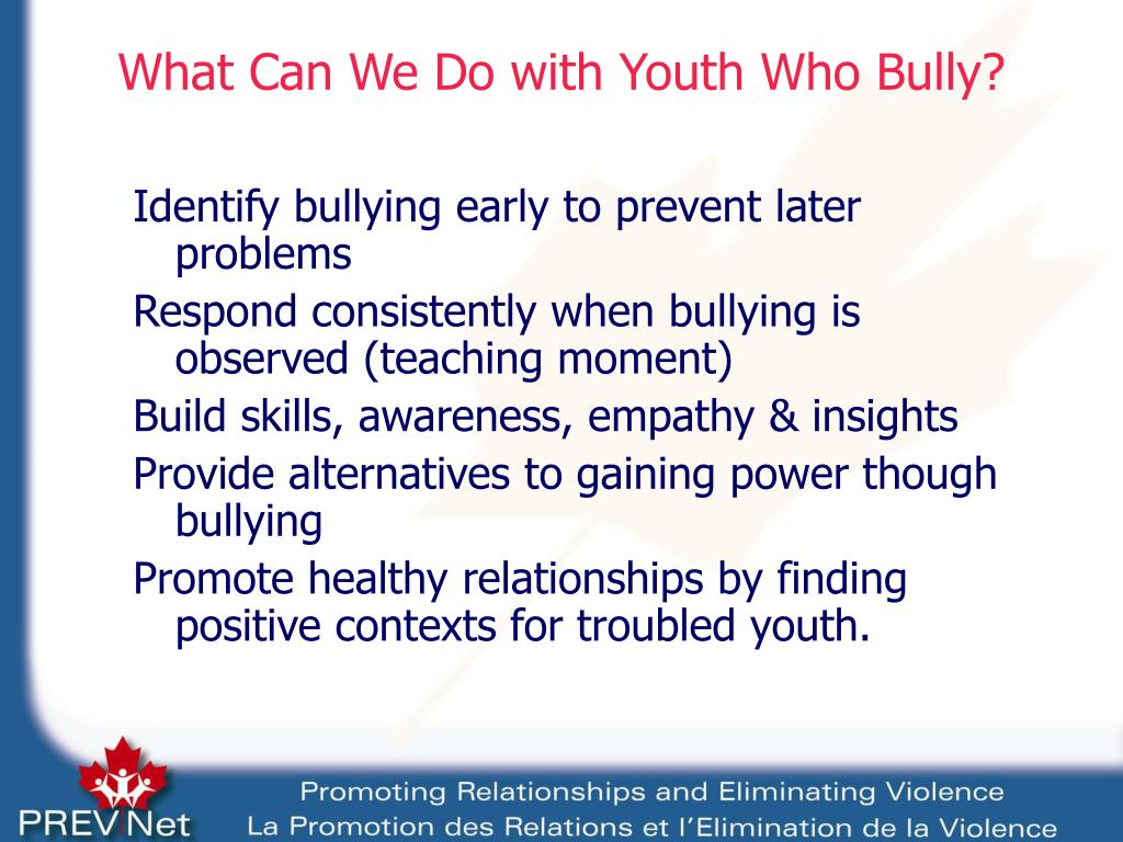 What Can We Do with Youth Who Bully?