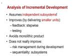 analysis of incremental development
