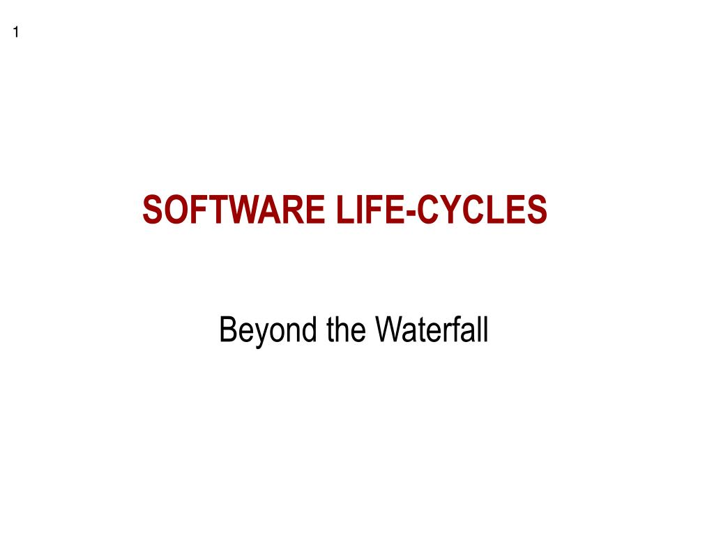 software life cycles l.