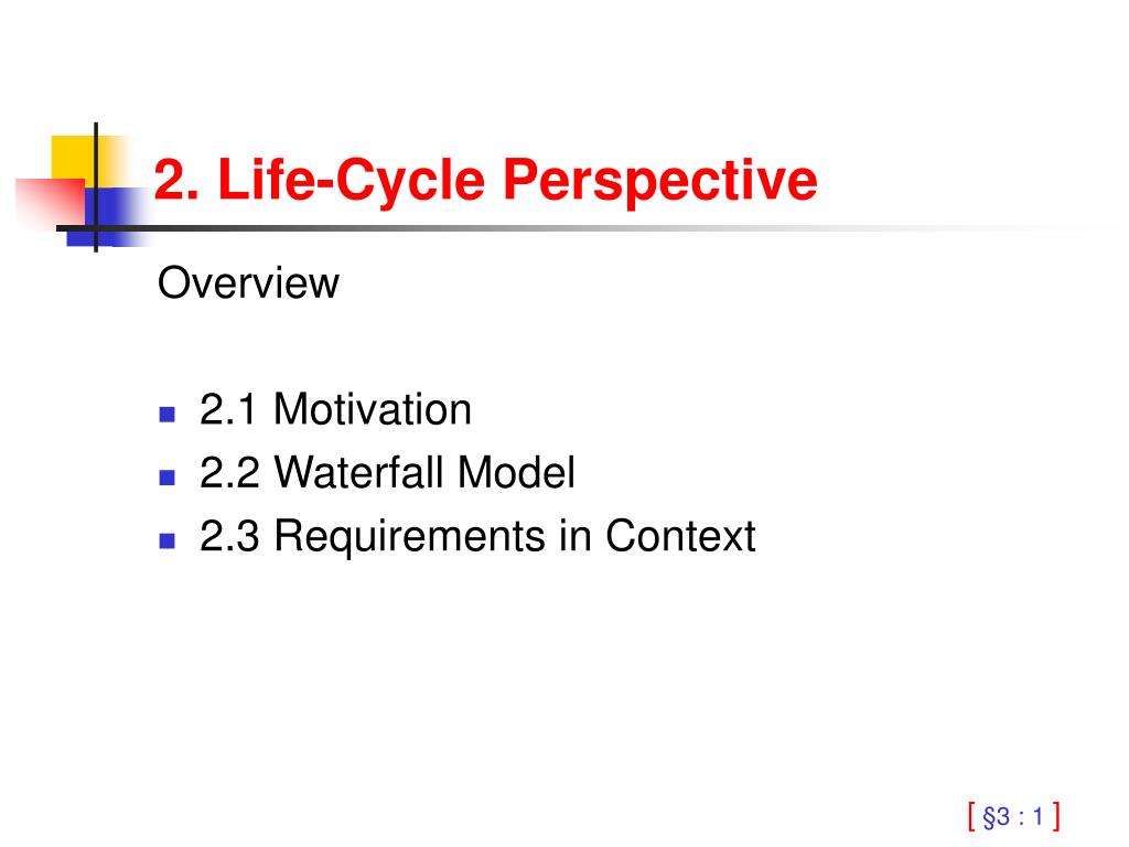 2 life cycle perspective l.
