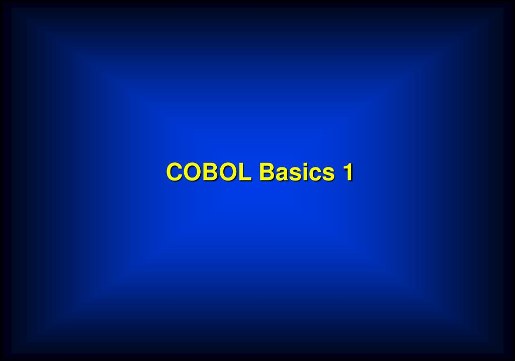 cobol basics 1 l.