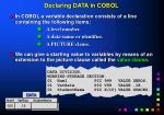 declaring data in cobol