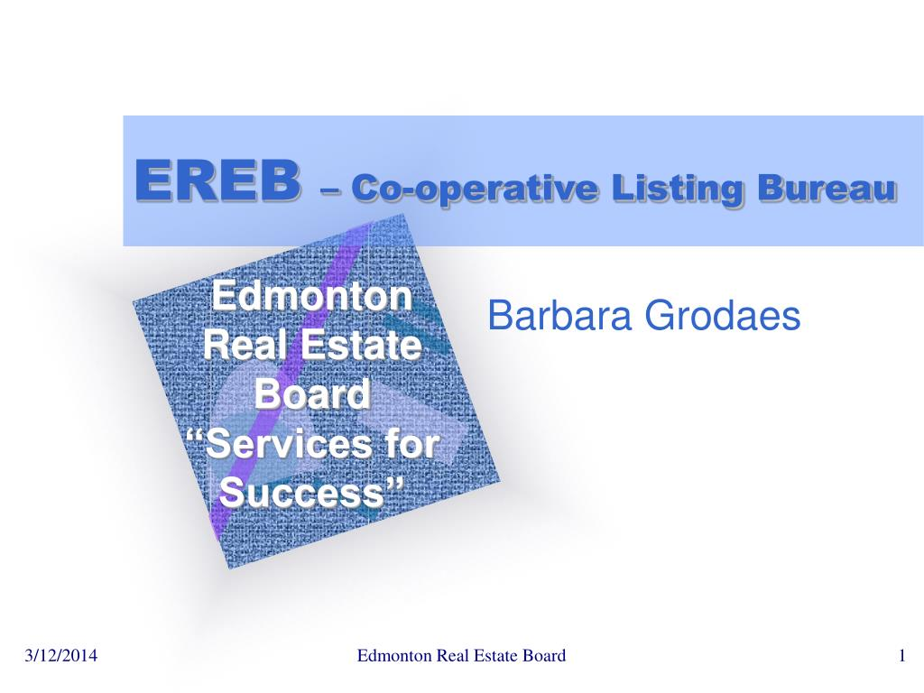 ereb co operative listing bureau l.