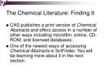 the chemical literature finding it17