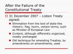 after the failure of the constitutional treaty