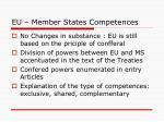 eu member states competences