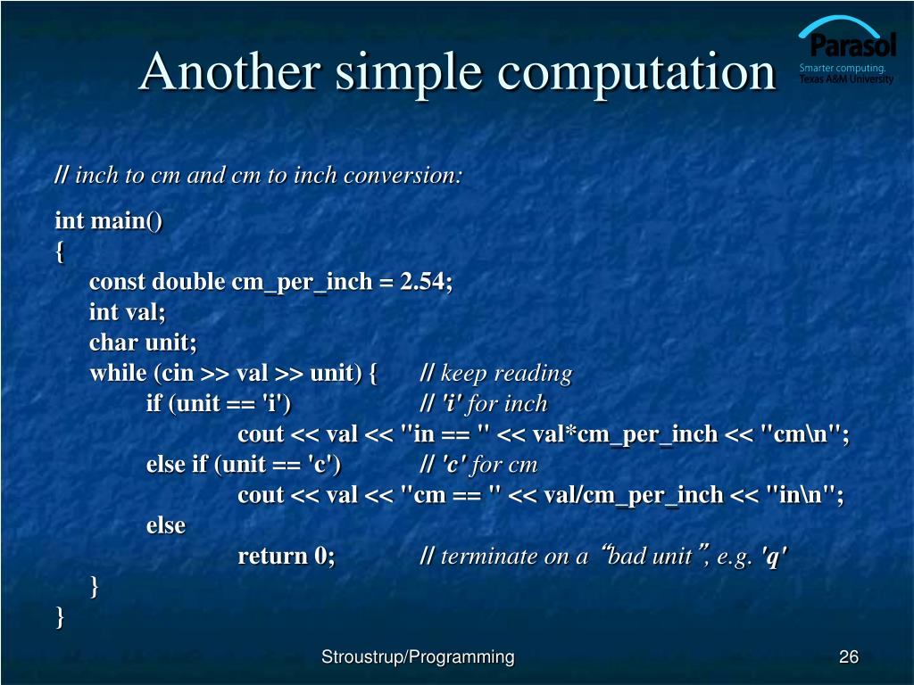 Another simple computation
