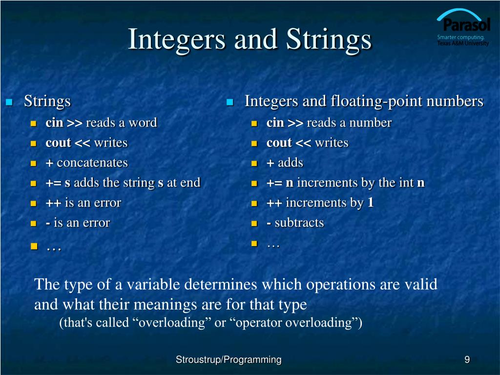 Integers and Strings