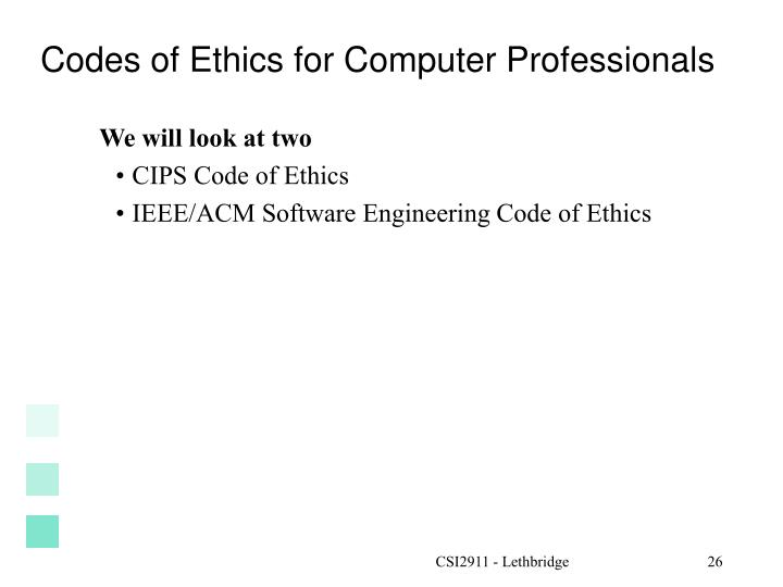 a comparison of two codes of ethics of two different business organizations the acm and the ieee These two definitions give a  the somewhat inconsistent acm code of ethics online at the acm web site ieee code of ethics,  .