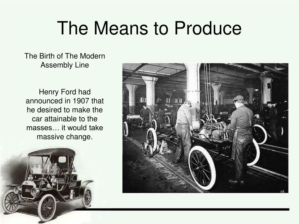 The Means to Produce