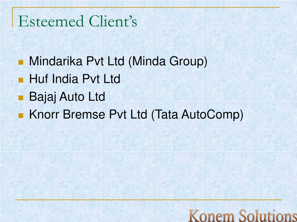 Esteemed Client's