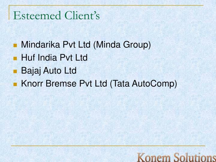 Esteemed client s