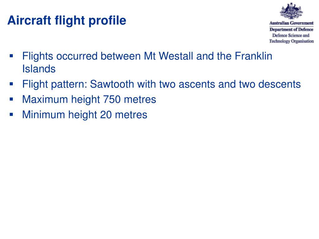 Aircraft flight profile