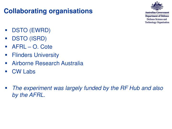 Collaborating organisations