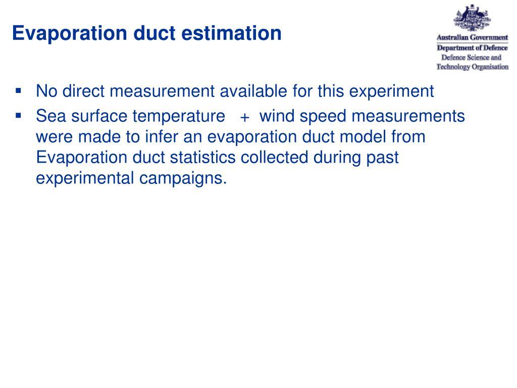 Evaporation duct estimation