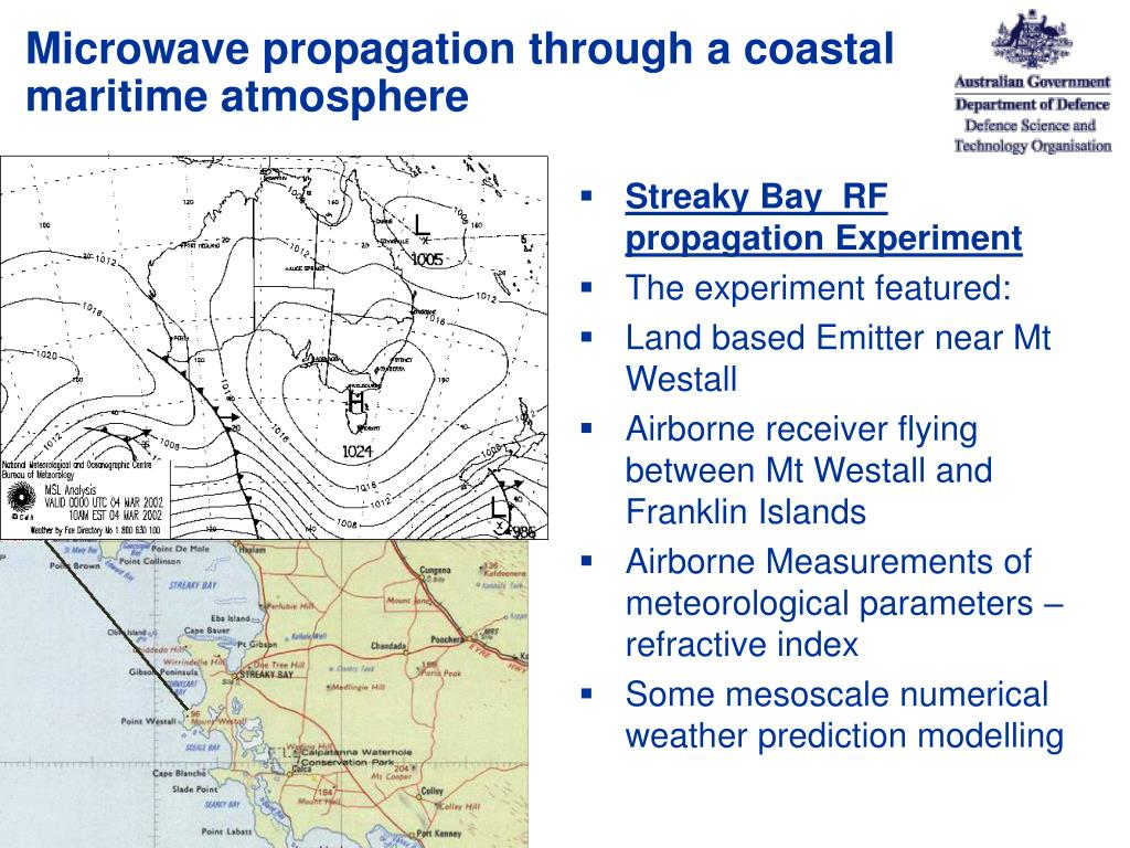 Microwave propagation through a coastal maritime atmosphere