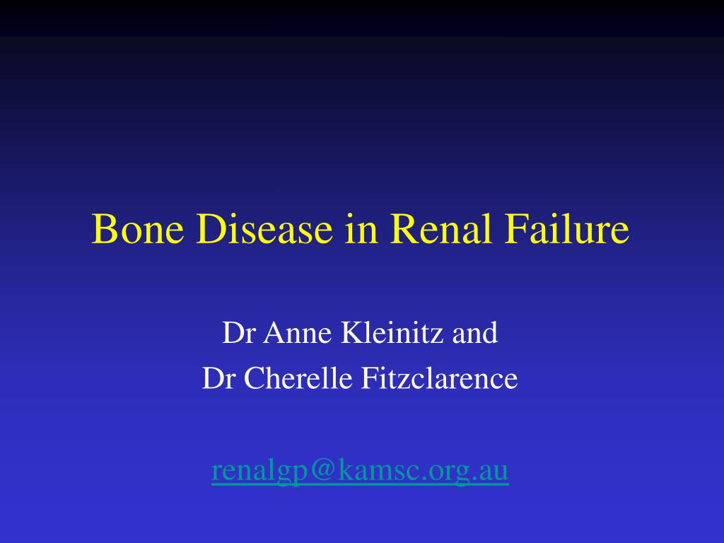 bone disease in renal failure l.