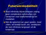 futurum modaliteit
