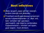 root infinitives