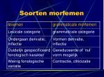 soorten morfemen