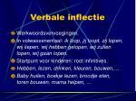 verbale inflectie