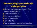verwerving van lexicale categorie n