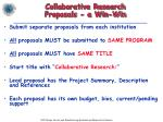 collaborative research proposals a win win