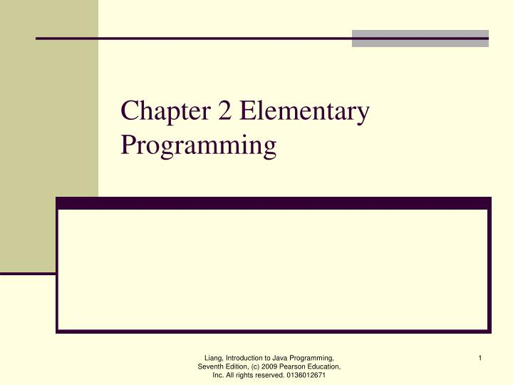 chapter 2 elementary programming n.